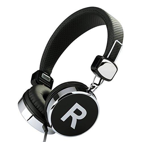Sound Intone ステレオヘッドホン ヘッドセット マイク付き ボリュームコントロール 高音質 両耳オーバー 「黒」 870 【並行輸入品】