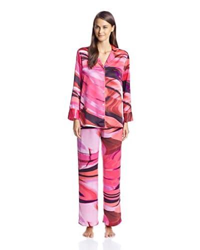 Natori Women's Garland Printed Satin Pajama Set