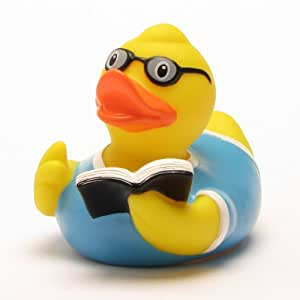 Amazon.com: Rubber Duck Bookworm with glasses: Toys & Games