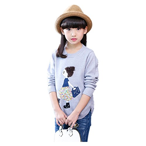 ftsucq-girls-crew-neck-cartoon-pullover-sweater-coatgray-150