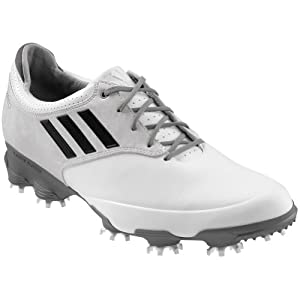 adidas Men's Adizero Tour Golf Shoe,White,10 M US