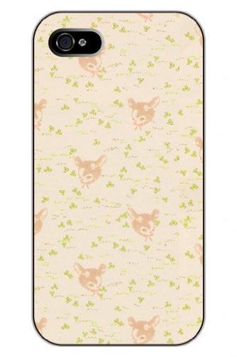 Sprawl New Unique Creative Design Apple Iphone 5 5S Snap On Protective Hard Case Cover Shell--Baby Deerlet And Green Leaves Pattern