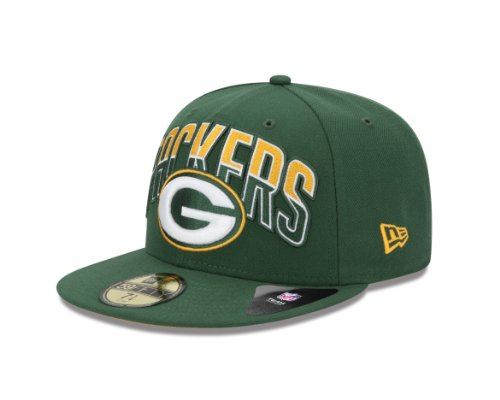 NFL Green Bay Packers 2013 Draft 59FIFTY Fitted Cap Green, 7 3/8 at Amazon.com