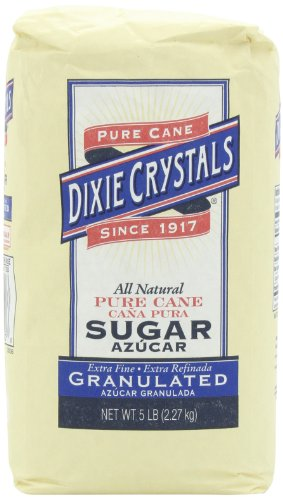 Dixie Crystals Extra Fine Granulated Sugar, 5-Pound (Pack of 2)