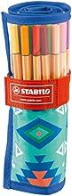 Comprar STABILO point 88 - Rotulador punta fina - Estuche premium de tela Rollerset edición limitada Festival Spirit color azul, con 25 colores