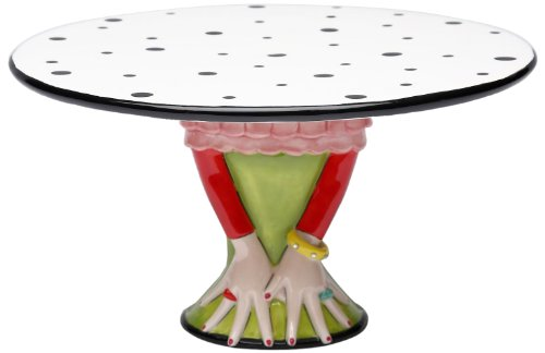Appletree Design Cake Stand, 9-1/2-Inch Long, Plate Detaches from Base