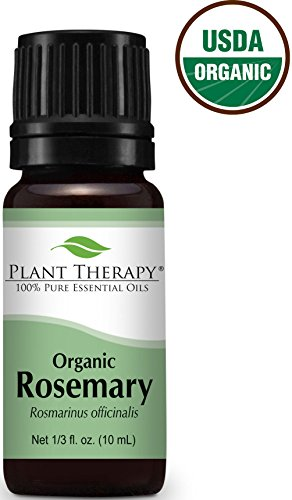 USDA Certified Organic Rosemary Essential Oil. 10 ml. 100% Pure, Undiluted, Therapeutic Grade.