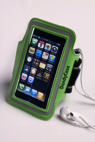 Dandycase Neon Green Non-Slip Protective Gym Jogging Sports Armband Case Cover For Apple Iphone 5S / 5 / 5C