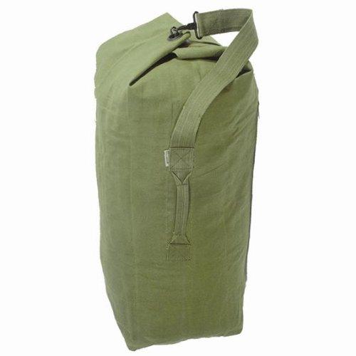 HEAVY DUTY MILITARY GREEN CANVAS ARMY KIT BAG/HOLDALL