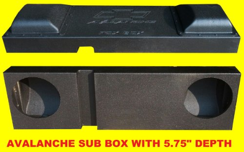"Fox Acoustics 2002-Up Dual 10"" Downfire Chevy Avalanche Escalade Sub Speaker Box"