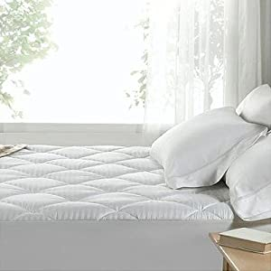 Linens Limited Polycotton Quilted Waterproof Mattress Protector, Double