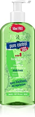 Eveline Cosmetics Pure Control Face Wash Gel Cleansing & Refreshing