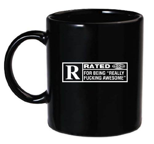 The Gags Rated R For Being Really F*cking Awesome-Funny Coffee Mug From The Gag (R Coffee Mug compare prices)