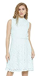 Sera Women's Dress (LA2281-Aqua-L, Blue, Large)