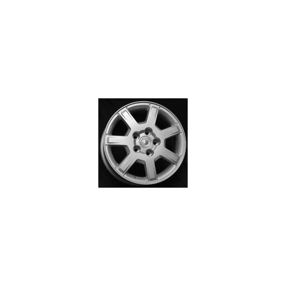 05 CADILLAC CTS V ALLOY WHEEL RIM 16 INCH, Diameter 16, Width 7, Lug 5 (7 SPOKES), BRIGHT SILVER, 1 Piece Only, Remanufactured , (center cap not included) (2005 05) ALY04590U20