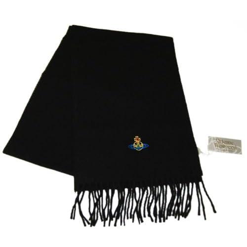 ヴィヴィアン・ウエストウッド【Vivienne Westwood】マフラー マルチ・オーヴ(ワンポイント) ブラック[SL3-F733-0012]