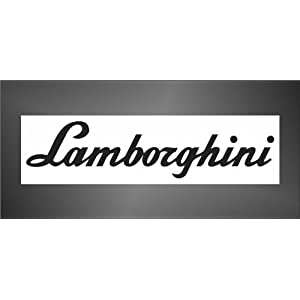 Adesivo Lamborghini auto rally formula 1 racing decal sticker   recensione