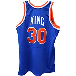 Bernard King New York Knicks Signed Blue Jersey w  HOF 2013 Insc by Steiner Sports