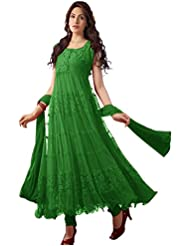 Alethia Sea Green Color Party Wear Embroidered Net Brasso Semi-Stitched Dress Material-ALC967DLGREENAM