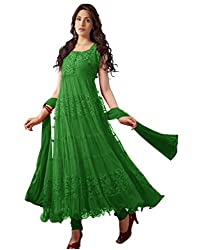 Surat Tex Women's Net Dress Material (C967DLGREENAM_Green)
