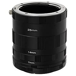Fotodiox Nikon Macro Extension Tube Set Kit for Extreme Close-up Fits Nikon Cameras