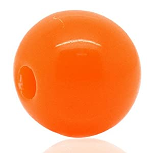 Housweety 500 Orange Acryl Spacer Perlen KLugeln Beads 6mm