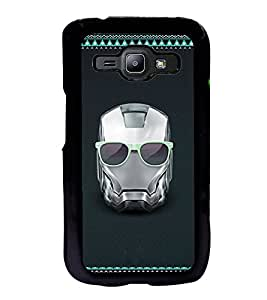 ifasho Angry mask iron Back Case Cover for Samsung J1