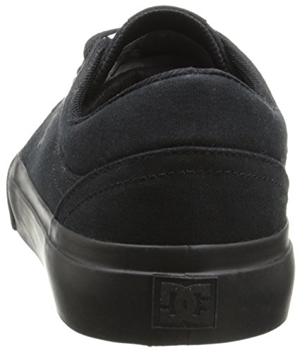 DC Men's Trase TX Skate Shoe, Black/Black/Black, 13 M US