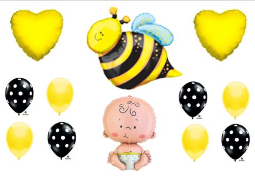 What Will It Bee Baby Shower Gender Reveal Party Balloons Decorations Supplies front-907941