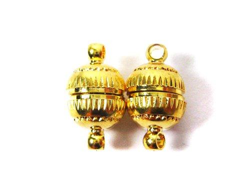 """Magnetverschluss """"Kugel"""" in gold 8 x 14 mm - 2 Stück"""