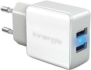 Innergie PowerJoy Plus - das universelle USB-Ladegerät (15W) für Steckdosen mit zwei USB-Anschlüssen