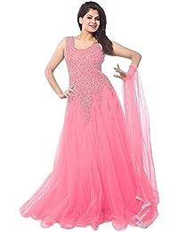 Aarvicouture Women's Cotton Salwar Suit Set (Ac-Dm-1167_Pink_Free Size)