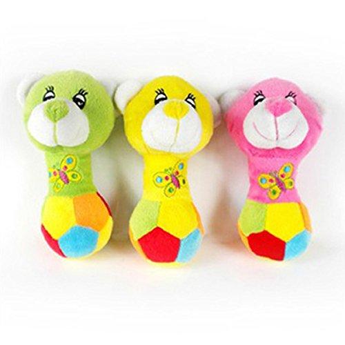 Bild: TopTops Groß Bär Rosa Gelb Und Grün Squeaky Plüsch Hundespielzeug für Klein Cats Und Hunde Farben können variieren