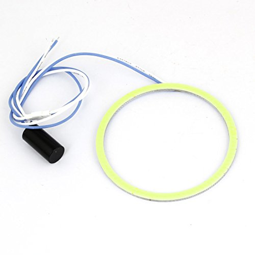 90Mm Car Angel Eye White Cob Led Light Circle Ring Headlight Lamp 12V