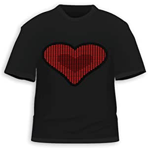 HDE Heart Equalizer Sound Activated LED T-Shirt (XXL)