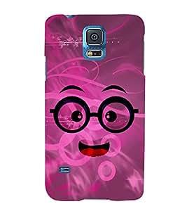 Chacha Smiley 3D Hard Polycarbonate Designer Back Case Cover for Samsung Galaxy S5 Mini :: Samsung Galaxy S5 Mini G800F