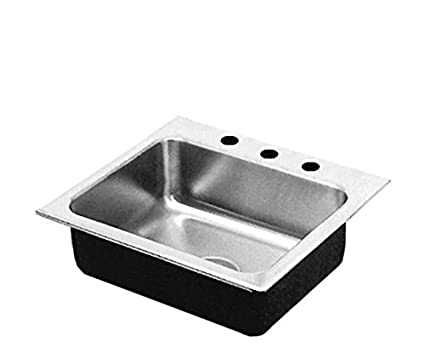 Just SLADA2017A1,6,DCR 18 Gauge Drop In Single Bowl Ada Stainless Steel Sink with Faucet Ledge