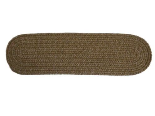 Rhody Rug Dixon Flax 8-Inch by 28-Inch Braided Stair Tread