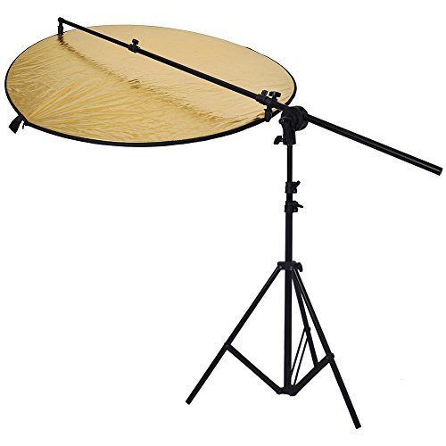 Neewer-Photo-Studio-Bracket-Grip-Holder-24-4760-120cm-Swivel-Head-Reflector-Arm-Support-6Ft75-Photography-Light-Stand
