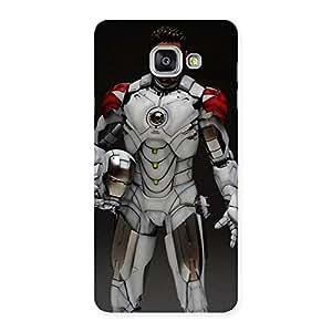 Stylish White Genius Multicolor Back Case Cover for Galaxy A7 2016