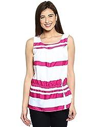 Ladybug Womens Sleeveless Striped Top - Pink