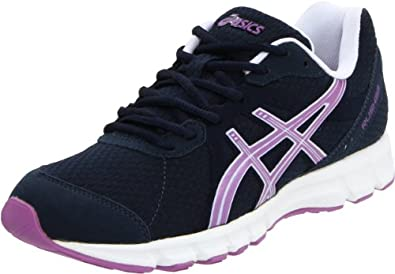ASICS Women's Rush33 Running Shoe,Navy/Grapemist/White,6.5 M US