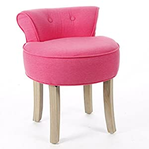 vanity stool linen and cotton colour pink