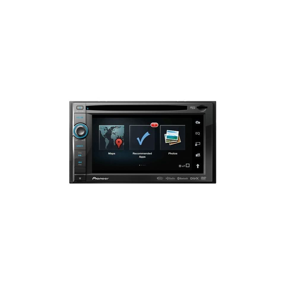 Pioneer Indash 2 Din DVD 6.1 LCD Navigation GPS w/Bluetooth, DVD/CD Receiver with AM/FM Tuner, Navigation US, Canada, and Puerto Rico, PANDORA Internet Radio Connectivity for iPhone and Android