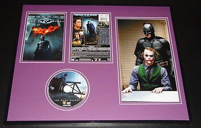 The Dark Knight 2008 Framed DVD & Photo Display Heath Ledger Christian Bale