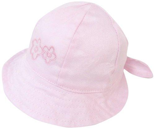 m junior ベビー帽子 花刺繍 ピンク 46cm