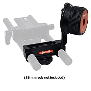 Opteka CXS-800 Gearless Follow Focus System for DSLR Cameras (Fits 15mm Rods/Rigs))