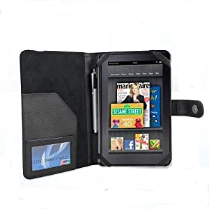 Klu by Curtis 7 Tablet BLACK DuroMax Executive Folio Case Cover by Cush+Cases