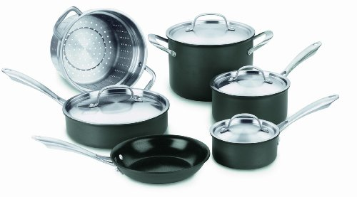 Cuisinart GreenGourmet Hard Anodized Eco-Friendly Nonstick 10-Piece Cookware Set