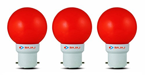 Ping Pong B22 0.5W LED Bulb (Red, Pack of 3)